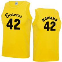 Beavers 42 Basketball Vest Top - Fancy Dress Costume Howard Teen Wolf Mens Top